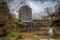 Rock Mill and Covered Bridge, Ohio