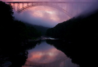 New River Gorge Bridge Stormy Sunset