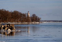 Wide View of the Lighthouse and Surrounding Shoreline