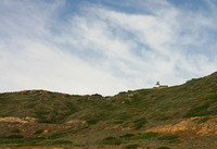 View of Old Point Loma Lighthouse from the tidal pools.