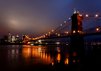 Near Dawn at the Roebling Suspension Bridge